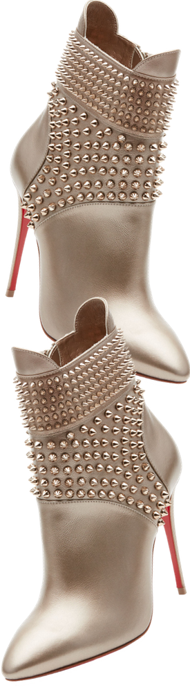 Christian Louboutin Hongroise Spiked Red Sole Bootie