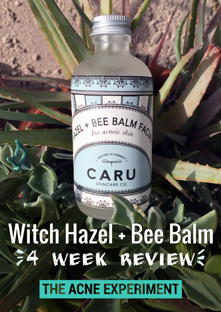 Witch Hazel + Bee Balm Hydrosol :: The Acne Experiment