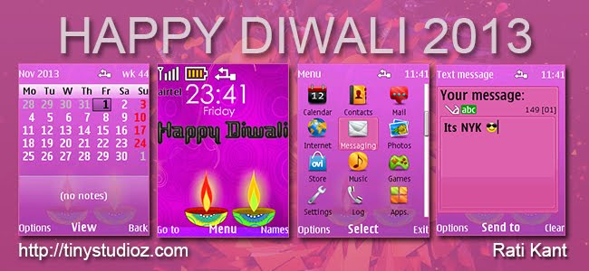Happy Diwali theme for Nokia S40 128×160,Nokia S40 240×320,Nokia S40 320×240 devices