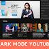 Cara mengaktifkan dark mode di youtube indonesia