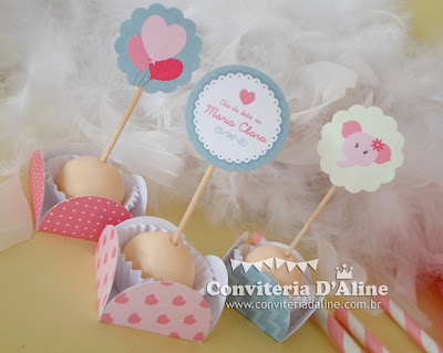 chá de bebê personalizado para menina
