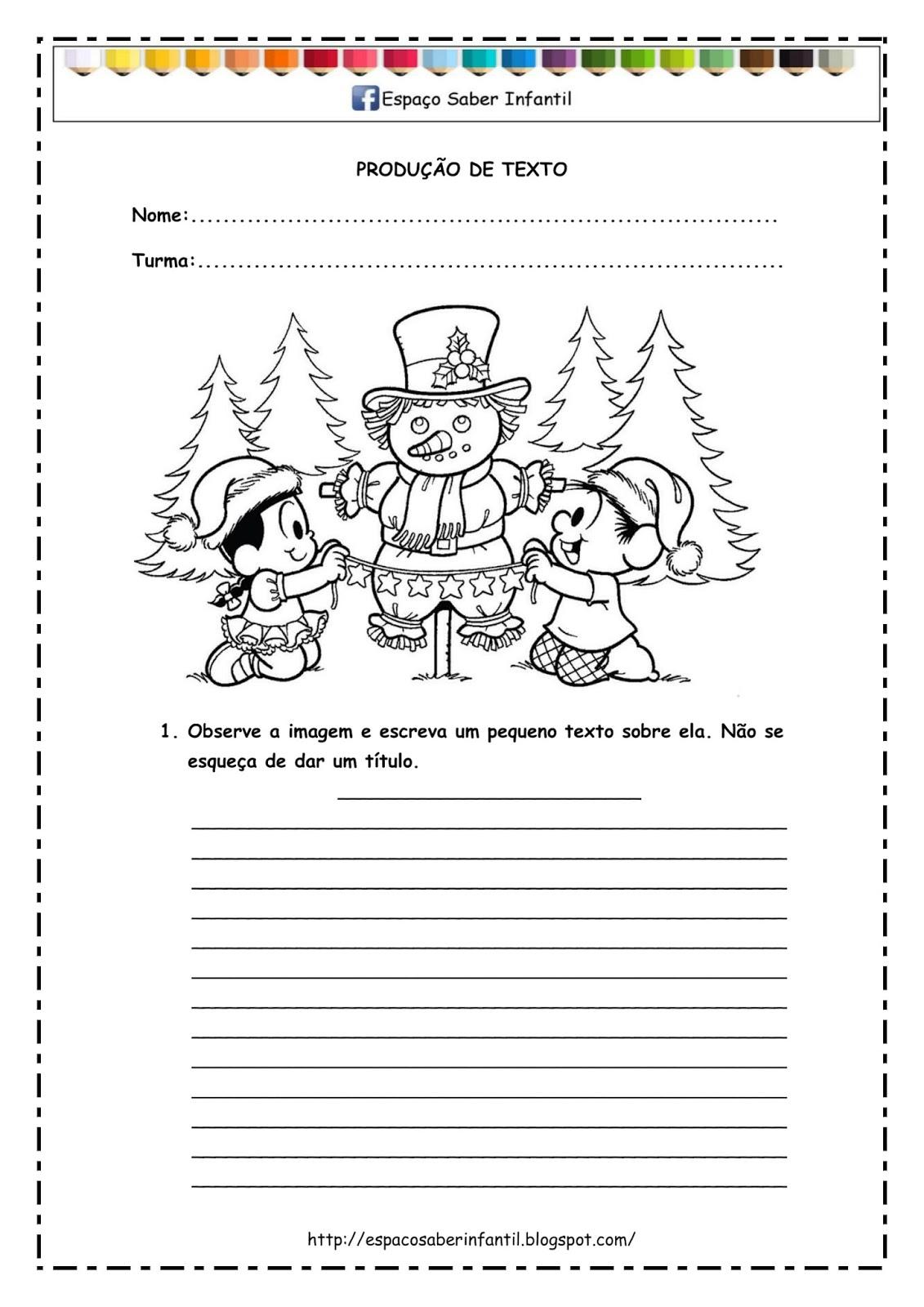 Populares Espaço Saber Infantil: Produção de texto - Carta para Papai Noel PI48