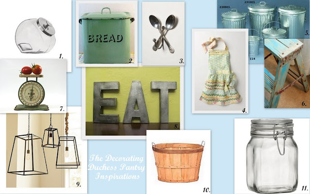 Pantry inspiration board, ideas for pantry organizing