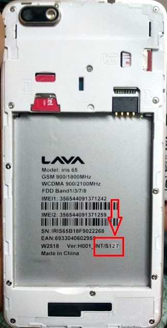 LAVA iris 65 S127 Firmware Flash File