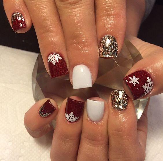 holiday nails art design 2018