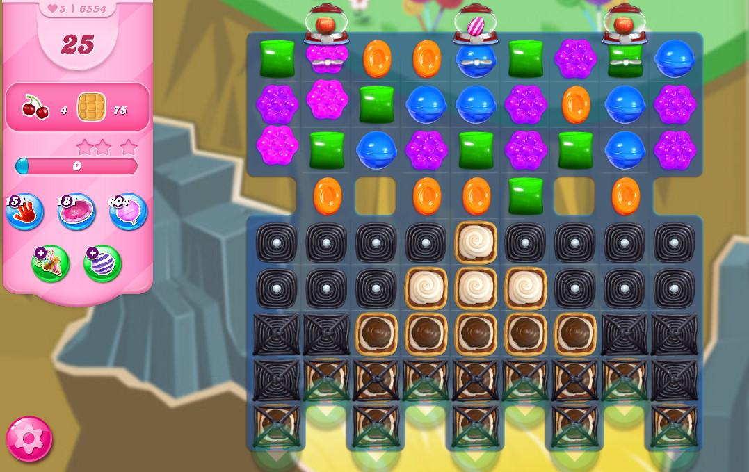 Candy Crush Saga level 6554
