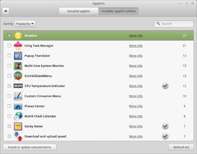 7 Applets recomendados para GNU/Linux MINT CINNAMON