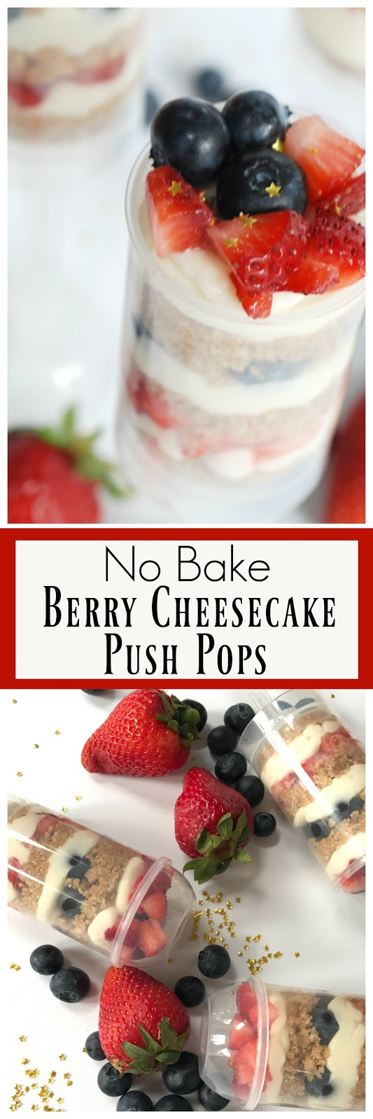 no bake berry cheesecake push pop