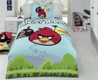 Angry Birds AB-04 Ranforce Tek Kişilik Nevresim Takımı