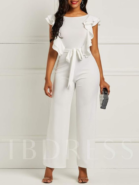 Plain Western Patchwork Full Length Slim Women's Jumpsuits