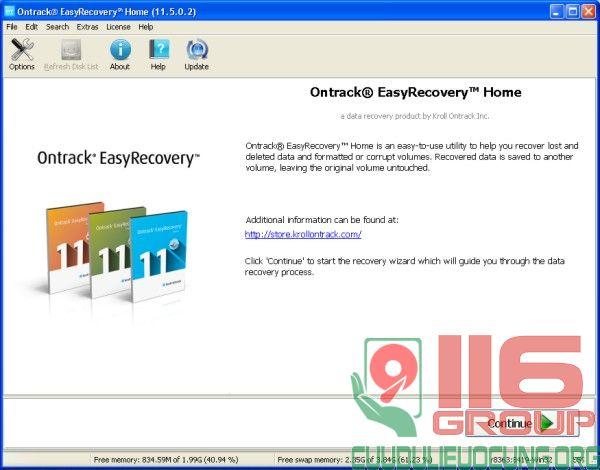 Phần mềm phục hồi dữ liệu Format xóa nhầm bản Home