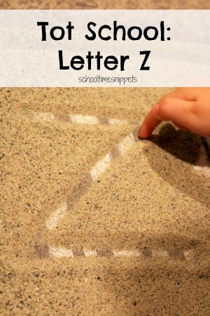 letter Z toddler activities