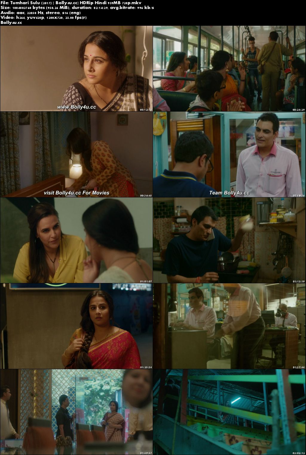 Tumhari Sulu 2017 HDRip 400MB Full Hindi Movie Download 480p