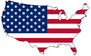 Map of Amerika Serikat flag