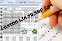 Download Contoh Format Excel Lembar Jawaban Komputer ( LJK ) SD,SMP,SMA
