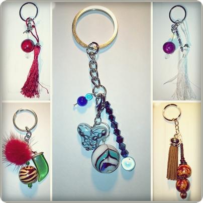 último clasificado bonita y colorida Tienda online Miyukeando: LLAVEROS ABALORIOS!!