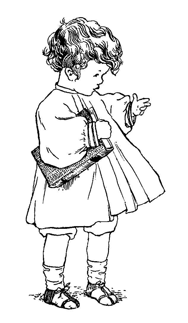 Digital Stamp Design Vintage Children Boy Girl Free Drawing Artwork