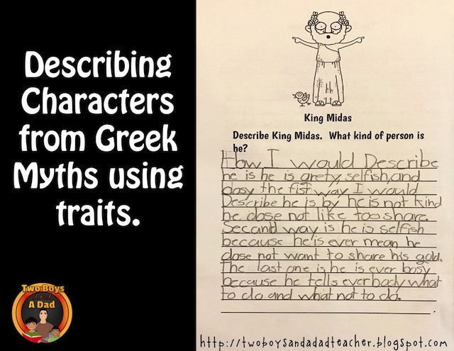 describing characters using character traits