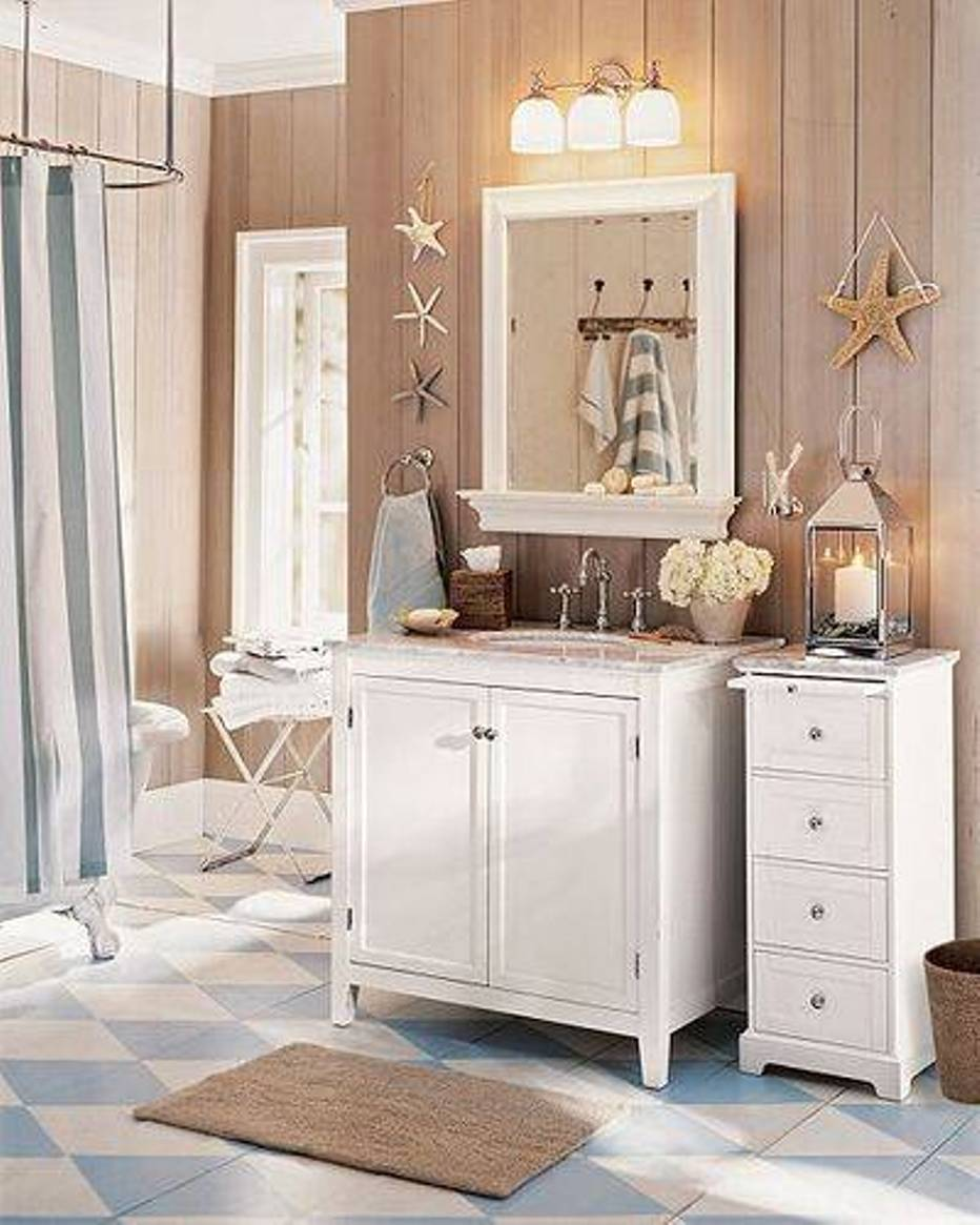 how to decorate a bathroom with a seashell theme