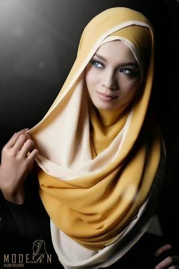 Kurus dan cantik menawan dengan fesyen tudung terkini
