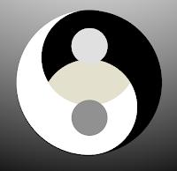 distorted yin-yang is unnatural, yet seeks balance
