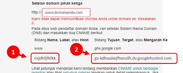Custom Domain Niagahoster ke Blogger.com