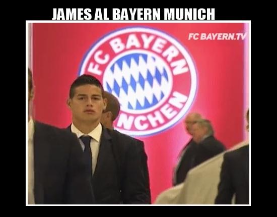 ¡Oficial! James Rodríguez cedido del Real Madrid al Bayern Múnich