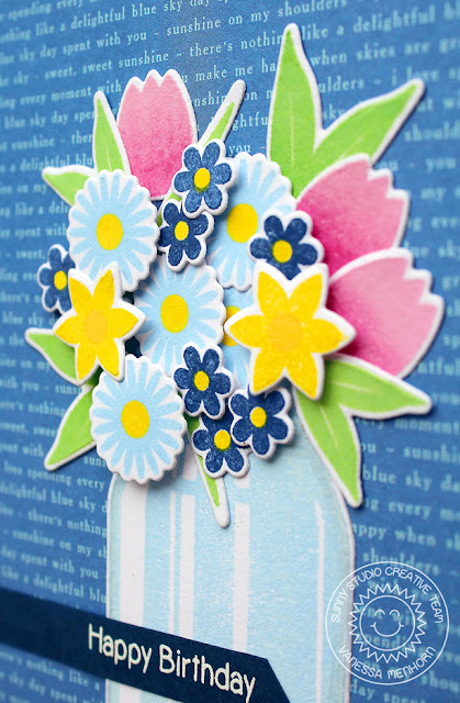 Sunny Studio Stamps: Vintage Jar and Family & Friends Happy Birthday Card by Vanessa Menhorn