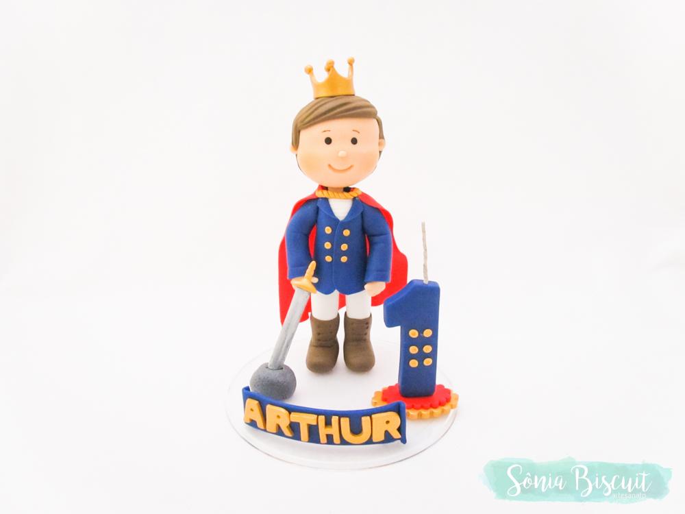 Topo de Bolo, Biscuit, Sonia Biscuit, Rei Arthur, Rei Artur