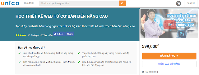 HỌC THIẾT KẾ WEB TỪ CƠ BẢN ĐẾN NÂNG CAO