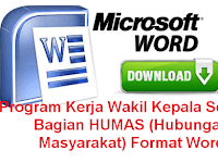 DOWNLOAD PROGRAM KERJA WAKASEK HUMAS SMK 2017-2018