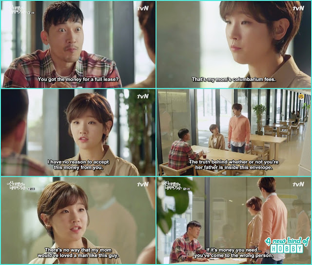 ha won give back the cemetery money to that ajusshi and ji won take the petarnity test result is that man is ha won father or not the scamed person - Cinderella and Four Knights - Episode 12