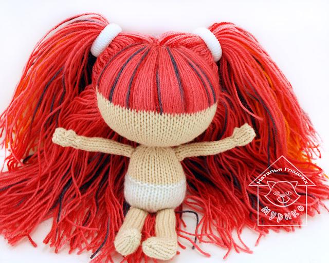 кукла своими руками, вязаная кукла спицами, мк, мастер-класс