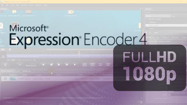 برنامج Microsoft Expression Encoder 4 مونتاج الفيديو تصوير شاشة الكمبيوتر 1080 HD