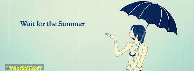 Ảnh bìa cho Facebook mưa | Cover FB timeline rain, cô gái cầm ô che mưa