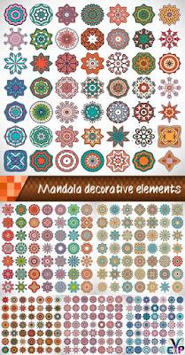 Creative decorative elements vector