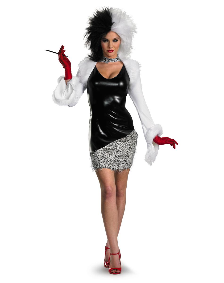 cruella de vil sassy adult women 39 s costume halloween. Black Bedroom Furniture Sets. Home Design Ideas