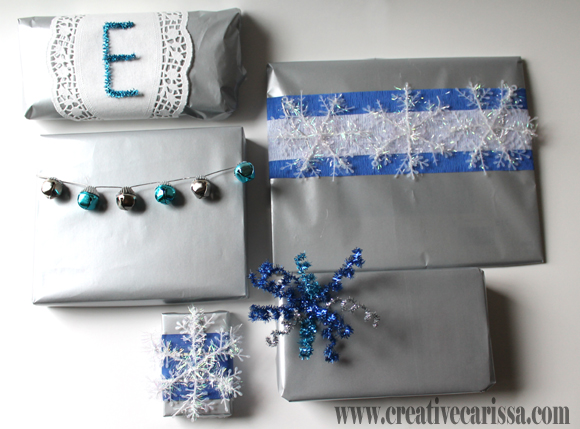 Beautiful gift wrap ideas featuring item from Dollar Tree