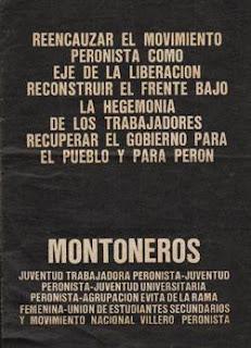 DE OTROS TIEMPOS TAN ACTUALES....MONTONEROS Y REENCAUZAR