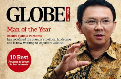 """Basuki Tjahaja Purnama (Ahok) dinobatkan sebagai """"Man of The Year"""" oleh majalah Globe Asia"""