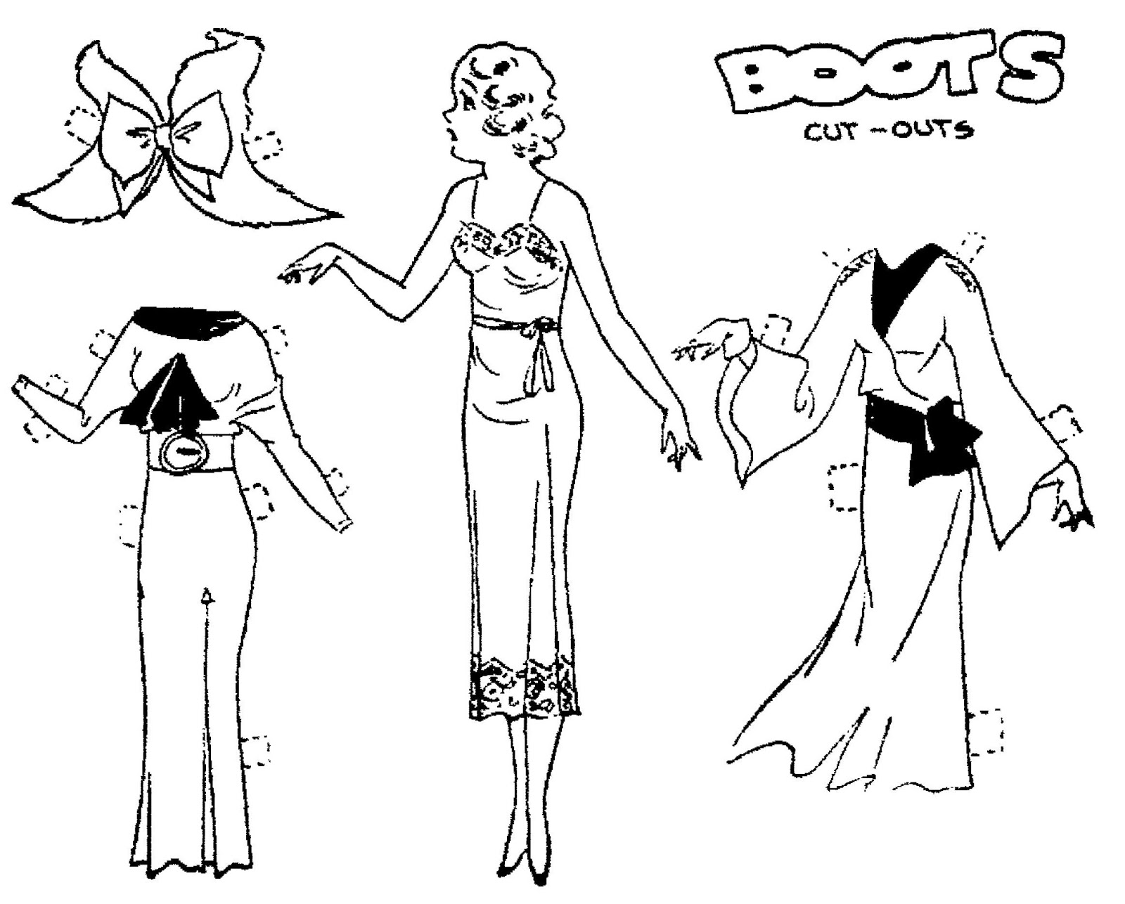 Mostly Paper Dolls Too!: August 2013