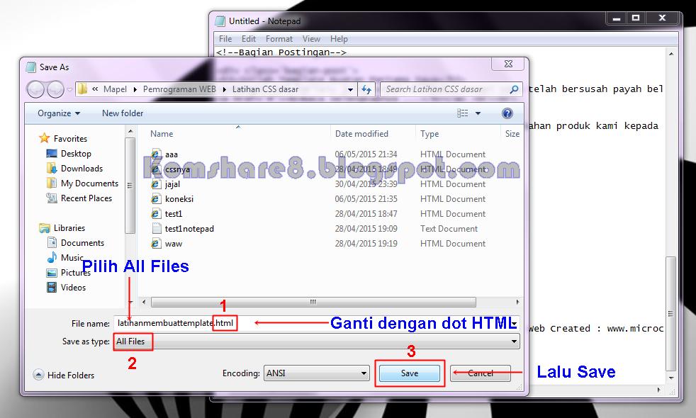 Cara Save Ke HTML
