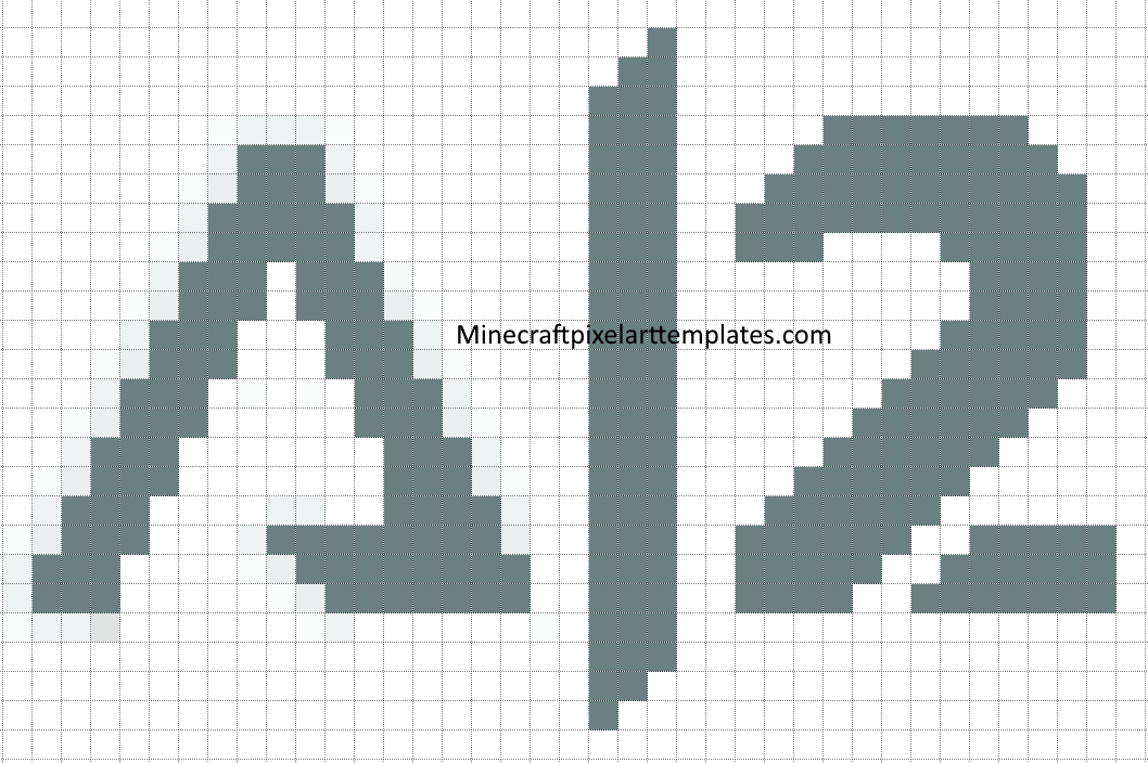 Minecraft Pixel Art Templates Titanfall 2 Pixel Art Fan Logo