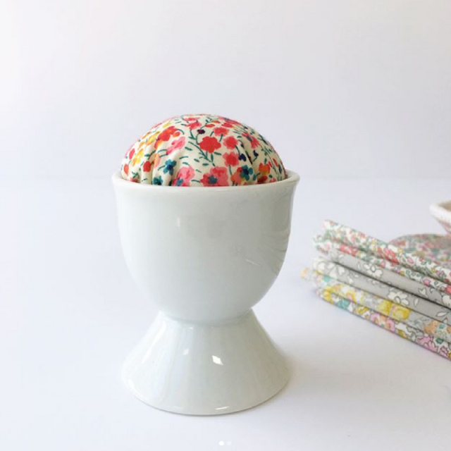 Faith Essenburg Liberty Egg Pin Cushion | 2017 Ultimate Holiday Stocking Stuffers Guide for Quilters | Shannon Fraser Designs | Sewing Notions & Tools | Quilting | Quilt Essentials | Chritmas Stocking Stuffers