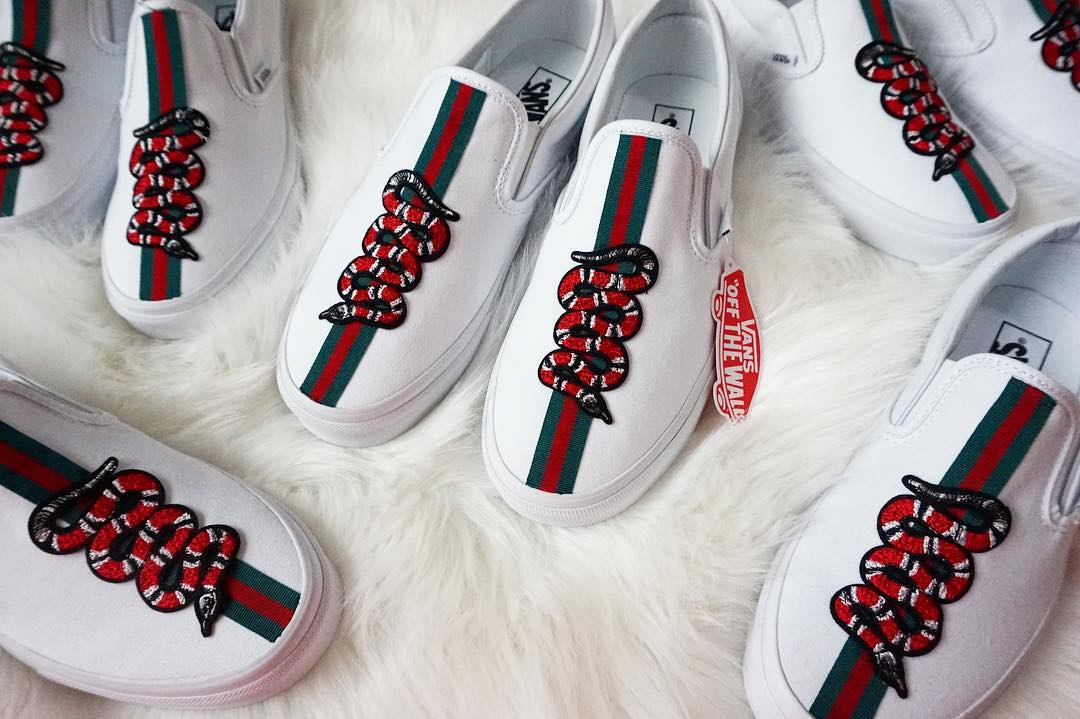 gucci vans. maybe the price is about $200 or so. gucci vans