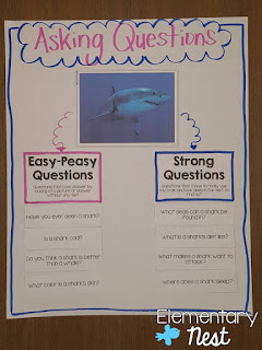 Teaching Kids to Ask and Answer Questions- reading activities for primary grades