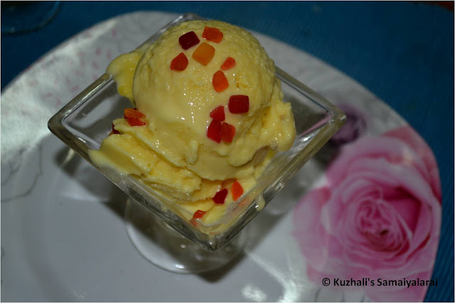 CUSTARD POWDER ICE CREAM - WITHOUT ICE CREAM MAKER