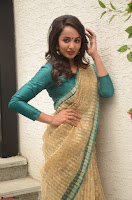 Tejaswi Madivada looks super cute in Saree at V care fund raising event COLORS ~  Exclusive 052.JPG