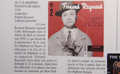Feernand Raynaud, pochette disque sketch 22 à Asnières