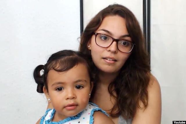 Ingrit Cristina Miguel y su hija Esther